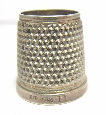Antique Sterling Silver Open Top Thimble Size 11  6/22/17 #47