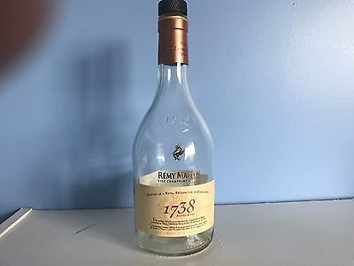 Empty Remy Martin 1738 Cognac Glass Bottle 375ml