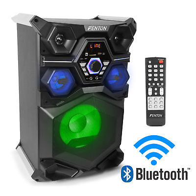 Powered Bluetooth Home Party Speaker Mega Bass USB Built-In LED Lights 400w