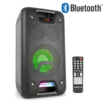 Powered Bluetooth Home Party Speaker Extreme Bass USB Built-In LED Lights 400w