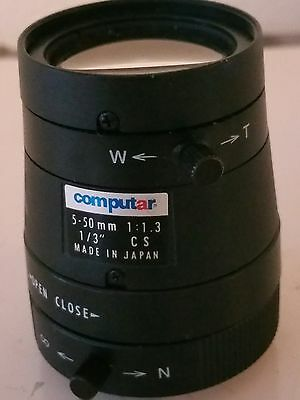 Computar Lens 5-50mm f1:1.3 Cs mount lens used