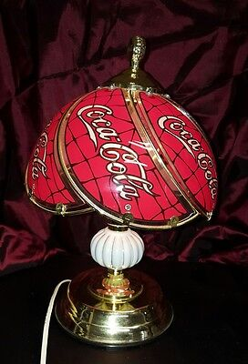 Coca-Cola Touch Lamp Glass Shade Vintage RARE