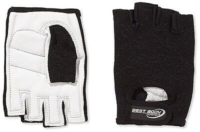 (X-Large, White/Black) - Best Body Nutrition Power Gloves. Shipping Included