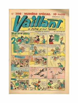 VAILLANT   N°    200   1949   BE/BE+ N° SPéCIAL