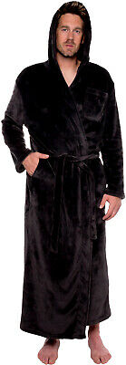 Ross Michaels Mens Hooded Full Length Big and Tall Long Bath Robe