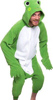 SILVER LILLY Unisex Adult Plush Animal Cosplay Costume Pajamas (Frog) ac4e5c53b