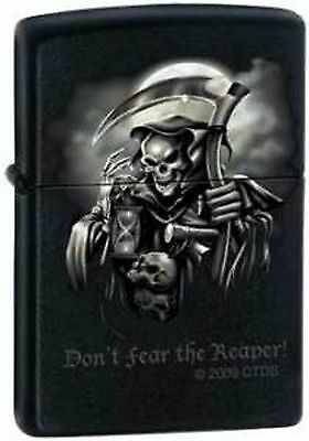 "Zippo Lighter ""Don't Fear the Reaper"" Black Matte Lighter 0409, Brand New!"