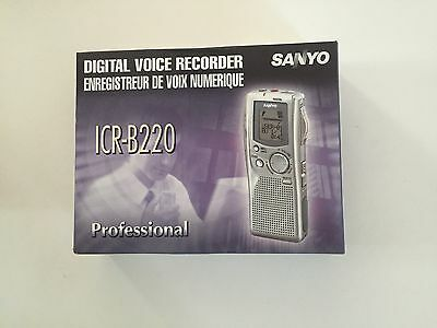 SANYO ICR-B200 Digital Voice Recorder Transcriber New