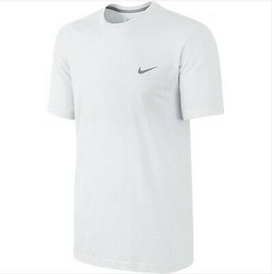 Men S Nike T Shirt White Grey Plain Short Sleeves Gym