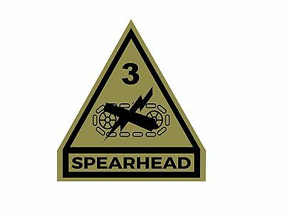 Army 3rd Armored Division Decal Sticker Spearhead Window Wall Laptop