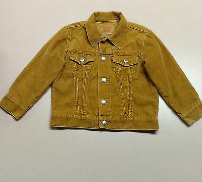 Vintage Levis Jacket size 4T Corduroy Coat Brown Red Tab