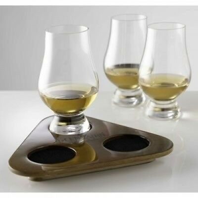 The Glencairn Official 3 Glasses Whisky Flight Tasting Tray. Delivery is Free