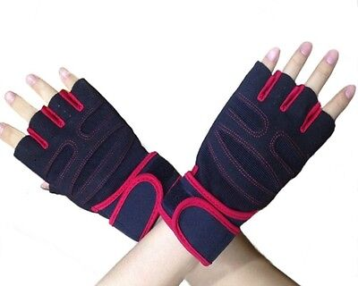(Red, X-Large) - YYGIFTreg; Durable Microfiber Cloth Non-slip Gloves Breathable