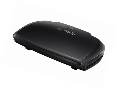 George Foreman Entertaining 10-Portion Grill (23440), Removes 42% Fat, Black