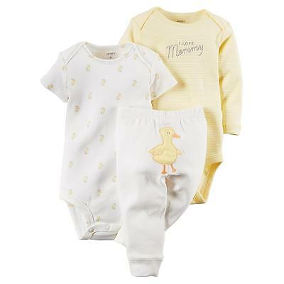 Carter's Unisex Baby 3 Piece Take Me Away Set Baby-Duck SiZE
