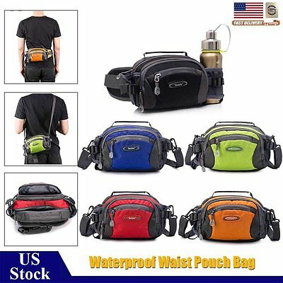 Waterproof Waist Bag Running Belt Fanny Pack Sports Travel Zip Pouch Adjustable