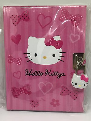 SANRIO HELLO KITTY PINK BOW HEART LOCKING AND KEY DIARY(New ) Licensed