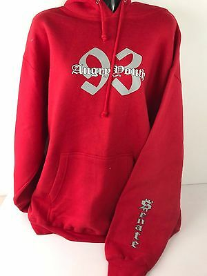 Senate Angry Youth Hoodie Red Genuine Aggressive Inline Roller Blade Skate Rare