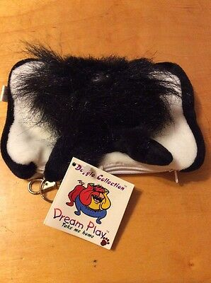 VTG SCOTTISH TERRIER PLUSH DOG  with pouch for treats to wallet T1
