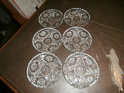 Vtg Set of 6 Anchor Hocking Early American Prescut Coasters Star of David EAPC