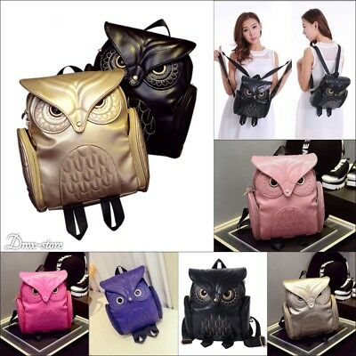 New Fashion Women Backpack 2018 Newest Stylish Leather Owl shoulder bag girls