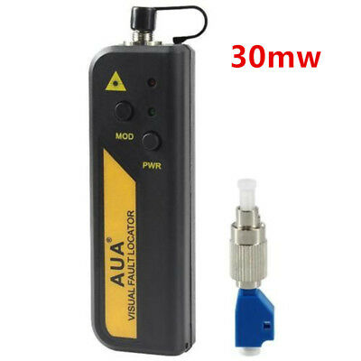 30mw Red Laser Light Fiber Optic Cable Tester LC/SC/FC/ST Connector