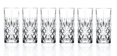 (High Ball; Water Glass) - RCR Crystal Melodia Collection High Ball Glass Set