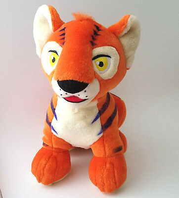 "Neopets Orange Kougra large 10"" talking talky plush doll plushie paintbrush 2004"