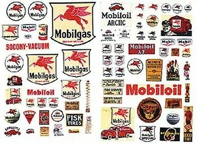 Model Train HO/OO Mobil Service Station Decals - Quick and easy JLI-485