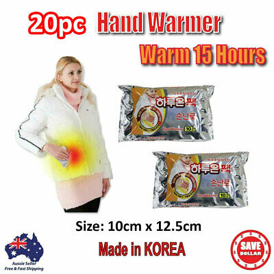 10pc Haruon Pack Hand Warmer Instant Heat Hot Pad Heating warm 15 hours KOREA