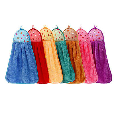 New Hand Towel Soft Plush Hanging Wipe Bathing Towel Bathroom Accessories