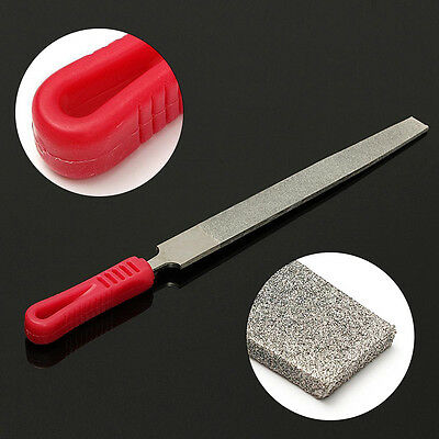 10 inch 250mm long THK Diamond Coated Flat File Grit 120 For Stone Glass Metal
