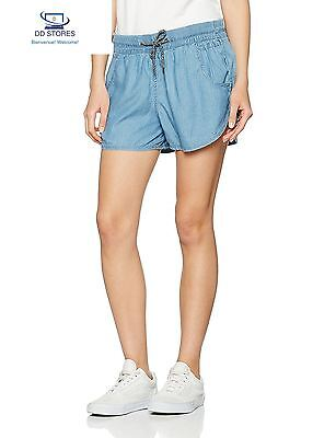 Oxbow J1AMARO Short Chambray Femme, Bleuet, FR 4 Taille Fabricant
