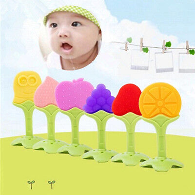 Baby Fruit Shape  Training  Toys Chewing Massager Teether Silicone New Hot