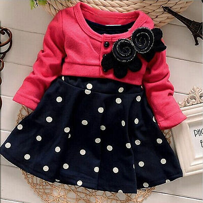 Toddler Kids Baby Girls Dress Princess Party Pageant Wedding Tutu Dress Clothes