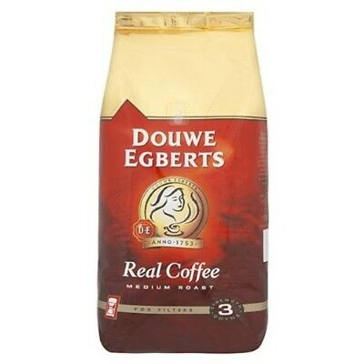 (1) - Douwe Egberts Real Coffee filter 1KG. Shipping Included