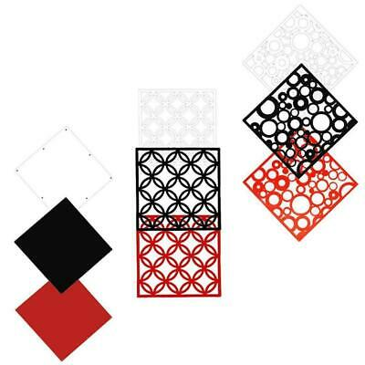 4pcs Flat Hollow Hanging Screen Partition Room Divider Curtain Wall Sticker