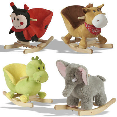 Baby Rockers Wooden Animal Toy Toddler Kids Boys Girls Ride On Toy Chair Playset