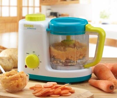 Cooks Professional NEW Baby Food Blender 2in1 Combined Steamer Food Processor