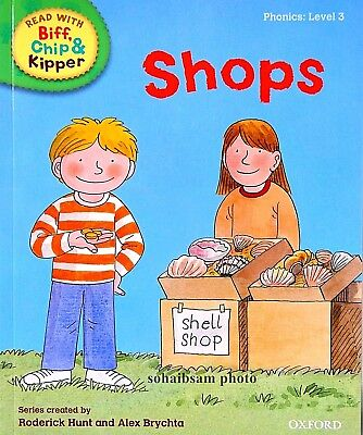 Shops | Biff Chip Kipper | Children's book | Phonics | Level 2 | New
