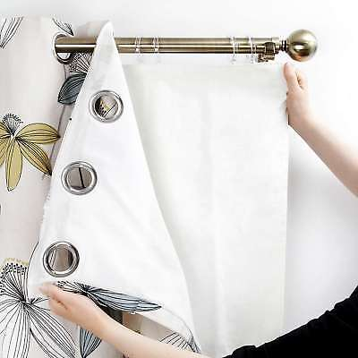 "New ""Eyelet Src"" Blackout Ring Top Curtain Linings Black Out Thermal Lining"