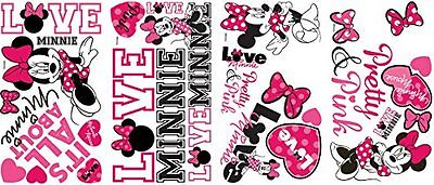 Roommates Rmk2180scs Mickey And Friends Minnie Loves Pink Peel Stick Wall Decals