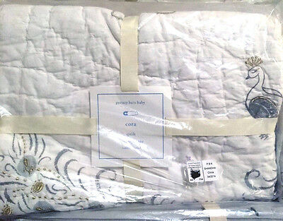 Pottery Barn 100% Cotton Cora Toddler Crib Quilt Baby Blanket NWT $129