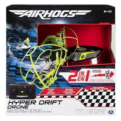 """Air Hogs """"Hyper Drift Drone"""" 2 in 1 Race or Fly NEW Super Drone 2017 UK"""