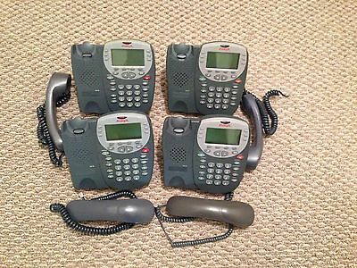(Lot of 4) AVAYA 5410 DIGITAL DISPLAY PHONE FOR IP OFFICE GREY
