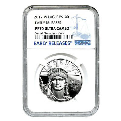 PRESALE - 2017-W 1 oz Platinum American Eagle Proof Coin NGC PF 70 UCAM Early Re