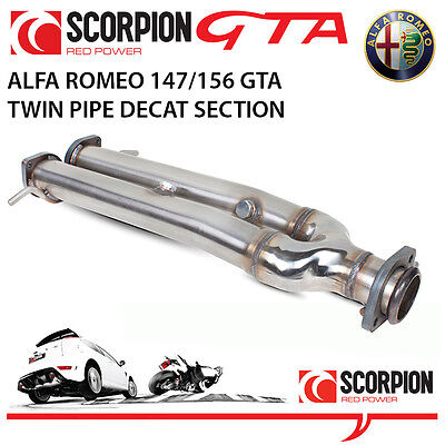 Alfa Romeo 156 GTA 3.2 V6 Scorpion DECAT Twin Pipe Section (removes cats)