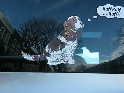 Cocker Spaniel Dog Lover Novelty Gift Collectable For Your Car Rear Windscreen
