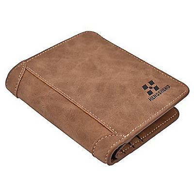 Mens Vintage Leather Wallet Credit Card Holder ID RFID Blocking Trifold Genuine