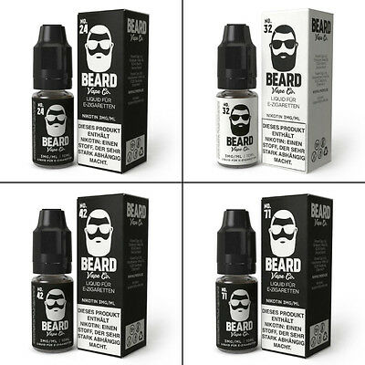€33,30/100ml Beard Vape Eliquid Set 3x10ml (=30ml) No 24|32|42|71 Made in USA